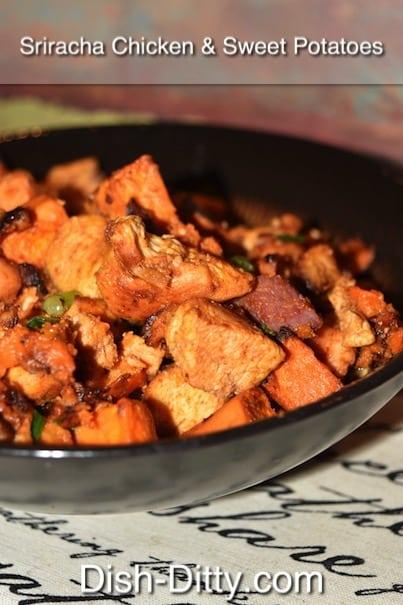 Sriracha Chicken & Sweet Potatoes Recipe by Dish Ditty Recipes