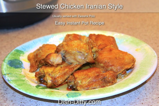 Stewed Chicken Iranian Style Recipe
