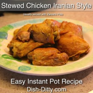 Stewed Chicken Iranian Style