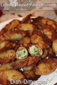 Leftover Mashed Potato Wontons