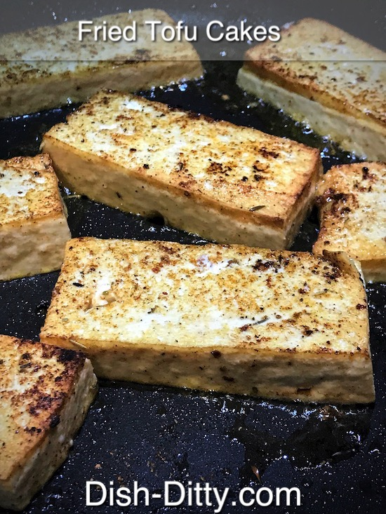 Fried Tofu Cakes Recipe by Dish Ditty Recipes