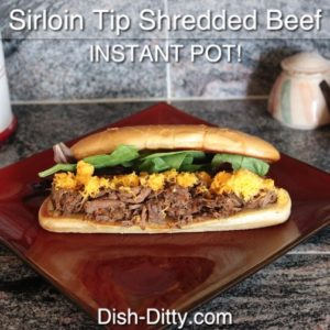 Instant Pot Sirloin Tip Shredded Beef