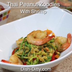 Thai Peanut Zoodles with Shrimp