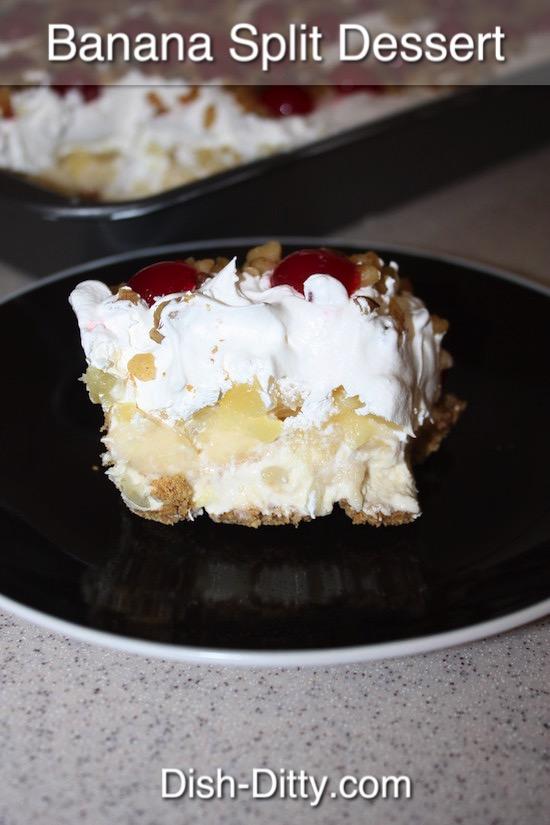 Banana Split Desert Recipe by Dish Ditty Recipes