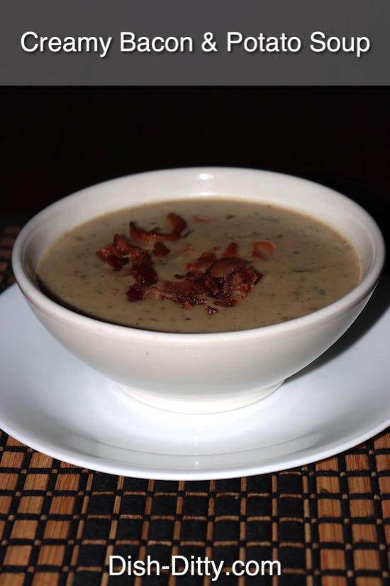 Creamy Potato & Bacon Soup Recipe by Dish Ditty Recipes