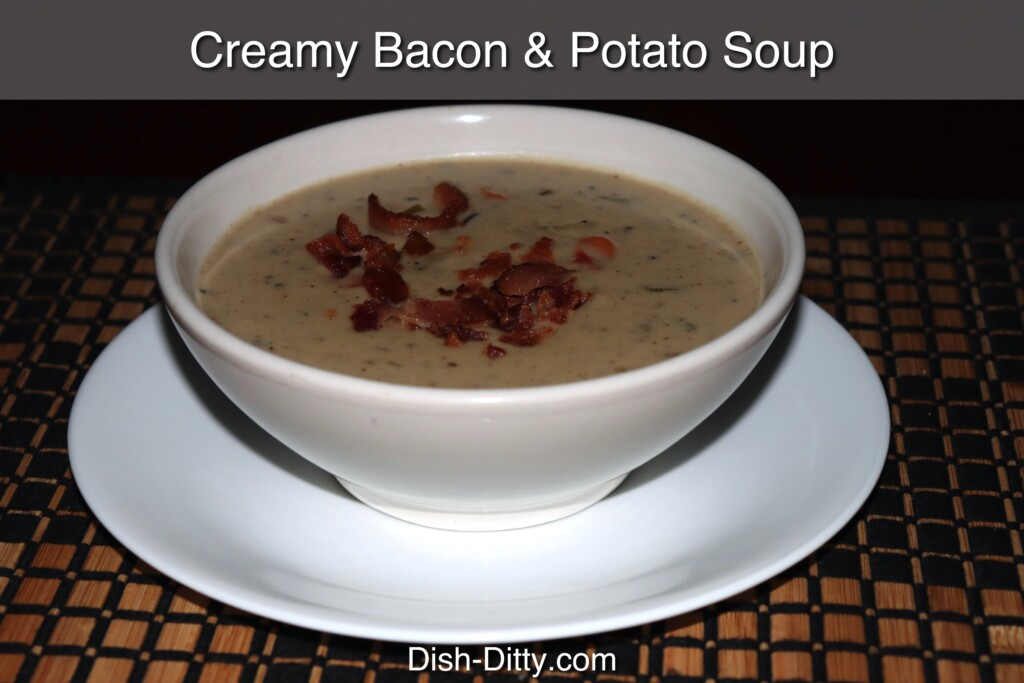 Creamy Potato & Bacon Soup Recipe by Dish Ditty Recipes