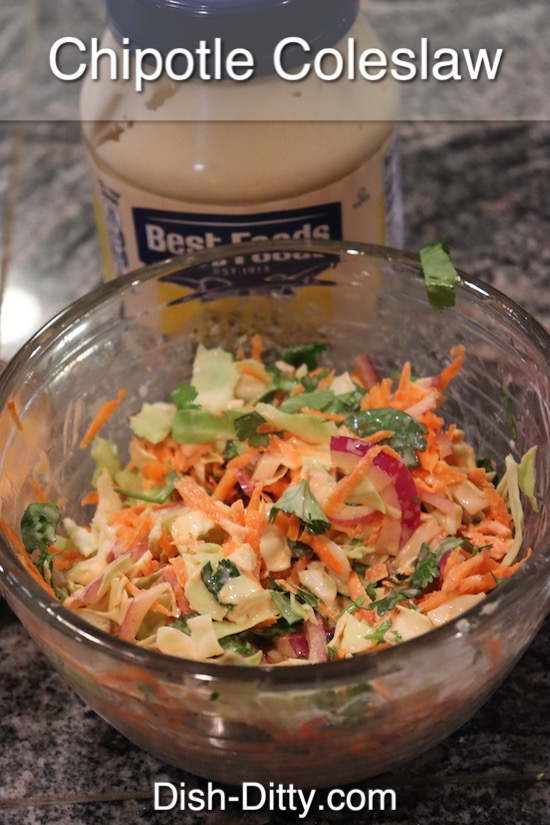 Chipotle Coleslaw Recipe by Dish Ditty Recipes